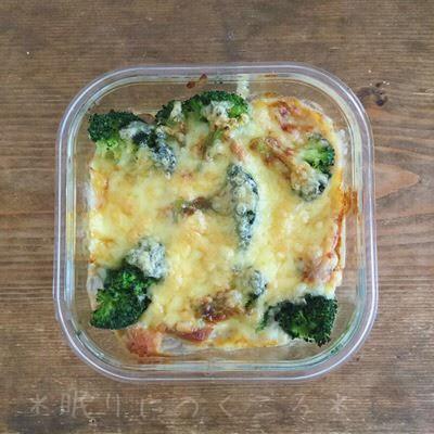 100均ダイソーガラス耐熱容器をグラタン皿代わりにして作ったチーズとブロッコリー入りのチキンドリア
