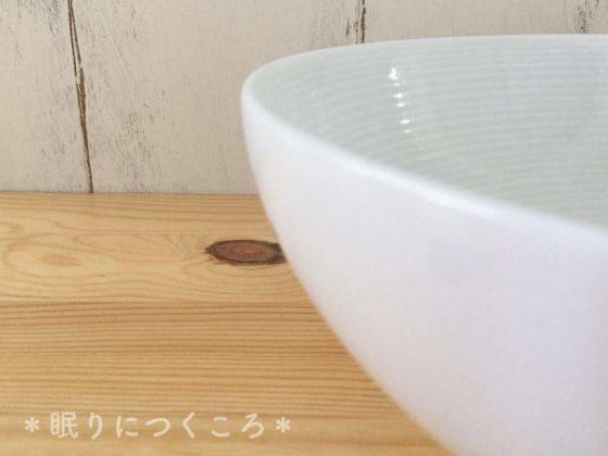 無印良品の白磁多様鉢厚み