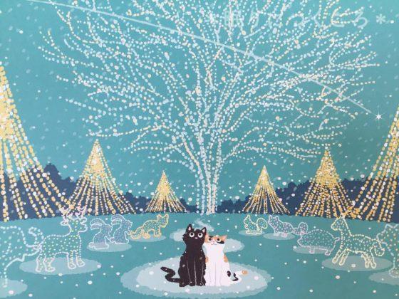 たびねこカレンダー2019年12月『クリスマス・イルミネーション』