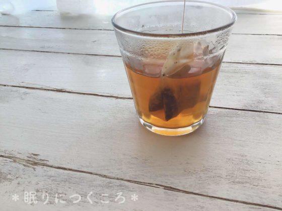 2分蒸らした業務スーパーの生姜紅茶