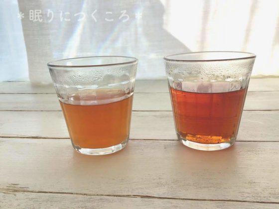 業務スーパーの生姜紅茶と日東紅茶の濃さの違い