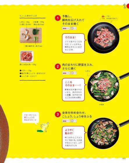 食べようびゆる自炊ブック豚肉と小松菜のうま醤油炒め
