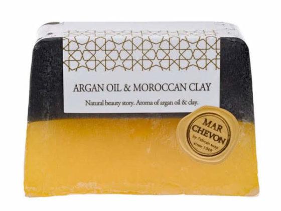 ペリカン石鹸マルシェボンクリアソープのアルガンオイル&モロッカンクレイ