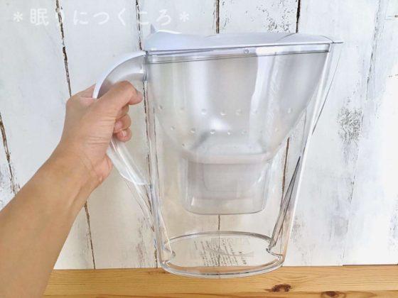 ブリタの浄水ポッドマレーラCOOLの大きさ比較