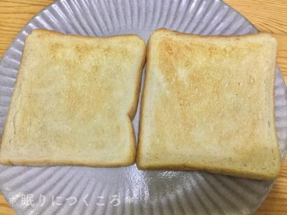 シャープのオーブンレンジRE-S70A-Wの自動トースト機能で焼いたトップバリュパンドミトースト
