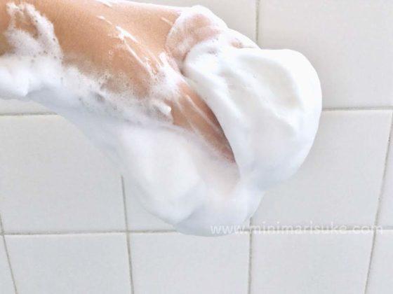 ちふれの洗顔用石鹸は掴めるほどのもっちり濃密泡
