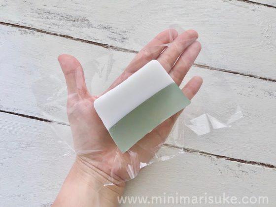 マルシェボンクリアソープミントの大きさ比較