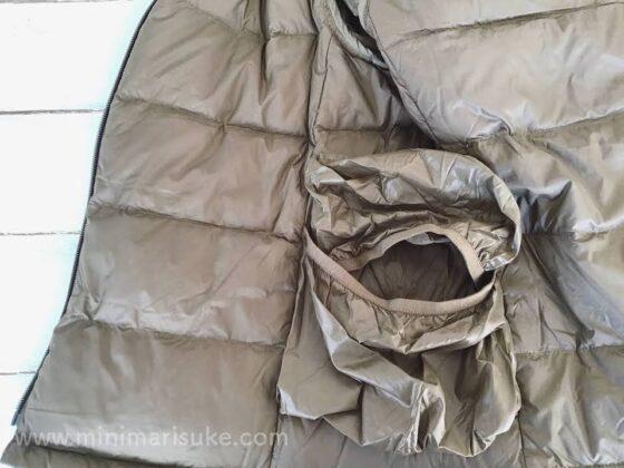 無印良品軽量ポケッタブルフードダウンの内側ポケット