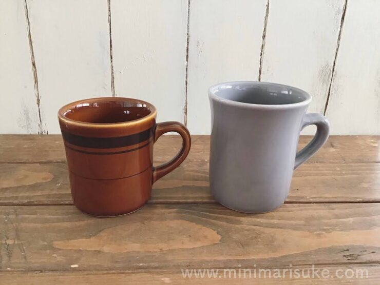 TAMAKIのコージーマグカップグレーとマルサン近藤(M-MODE)のマグカップサイズ比較