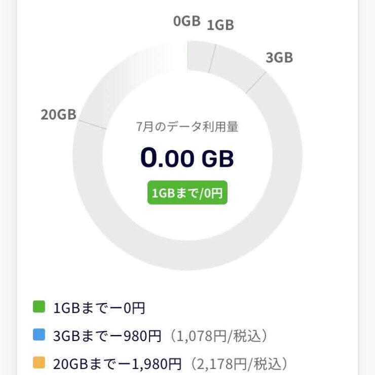 データ利用量が0GBだった楽天モバイルの記録
